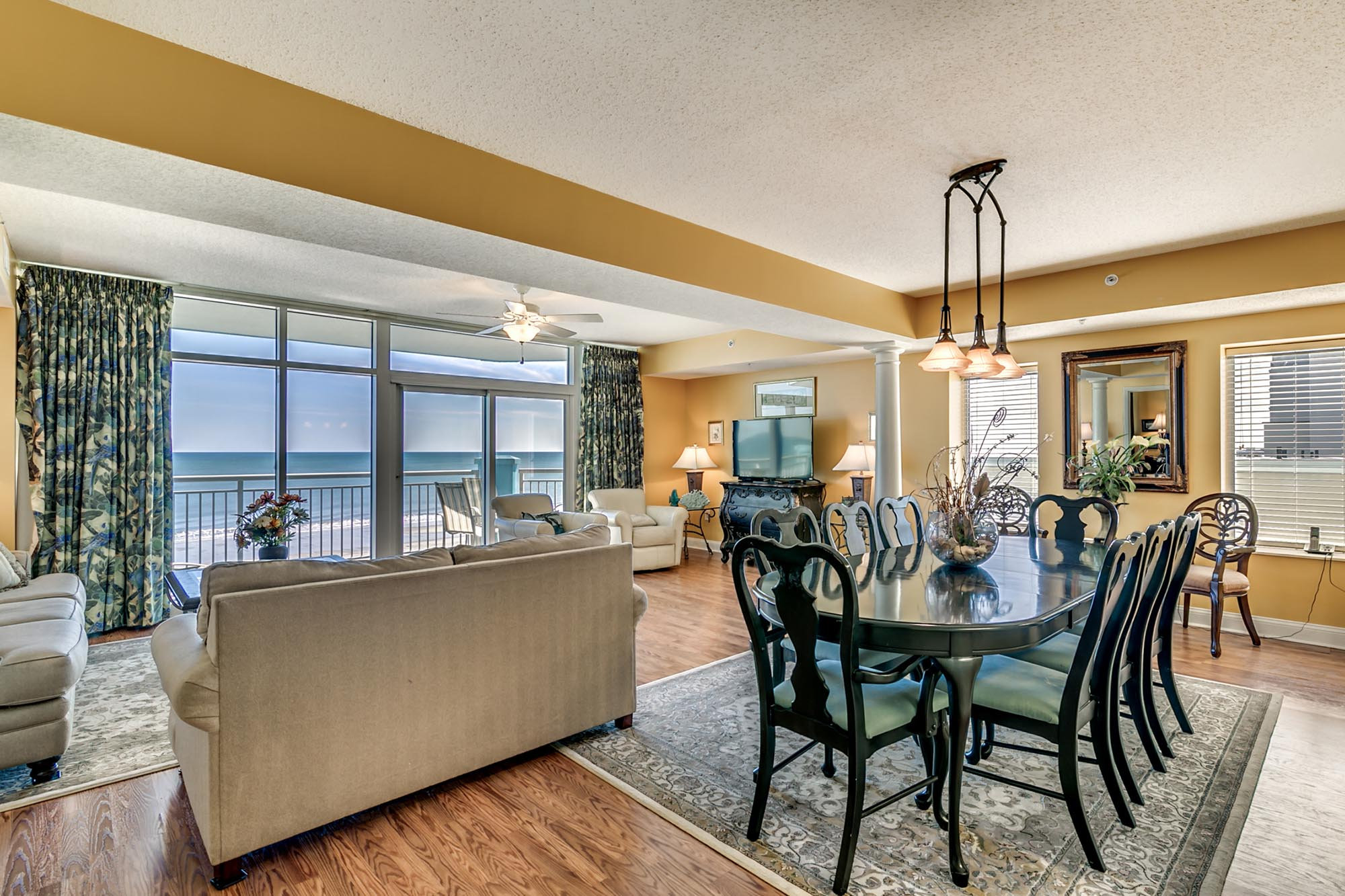 luxury living room in condo